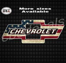Chevy Distressed American Flag UAS Diesel truck Decal Sticker Truck Sticker