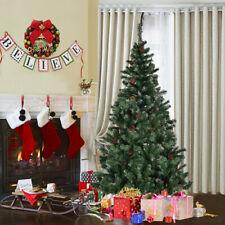 Arbre de Noël artificiel sapin avec pomme de pin tête de branche blanc 150-180cm