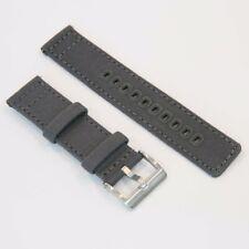 Canvas Premium Watch Strap Band Quick Release 20mm 22mm - Grey