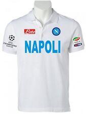 POLO NAPOLI CHAMPIONS LEAGUE t-shirt maglietta CAVANI HAMSIK HIGUAIN felpa BIANC