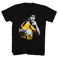 BRUCE LEE HOOOWAH BLACK Men's Adult Short Sleeve T-Shirt