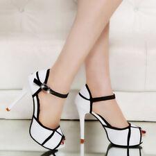 Women Luxury Open Toe High Heel Stiletto Ankle Strap Pump Sandal Party Shoes