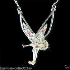 w Swarovski Crystal ~Rainbow TINKER BELL fairy Tinkerbell Charm Pendant Necklace