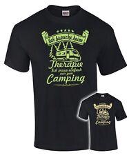 T-Shirt CAMPING ICH BRAUCHE KEINE THERAPIE Camper Spruch lustig Wohnwagen fun