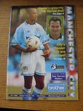 11/12/1993 Manchester City V Tottenham Hotspur Squadra (cambia). articolo in molto Goo