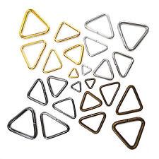 Triangular loop open bag ring metal buckles Hardware for webbing 10 20 25 30 mm