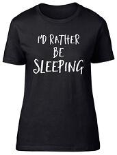 Id Rather be Sleeping Womens Ladies Short Sleeve Tee T-Shirt