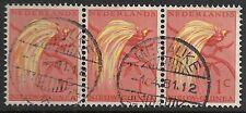 Netherlands New Guinea  MERAUKE on NVPH 25 strip of 3