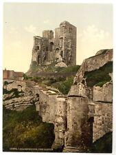 GRANDE VECCHIA FOTOGRAFIA/FOTO Scarborough,il castello,Yorkshire,Inghilterra