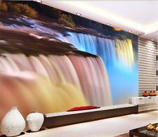3D Cascata 13 Parete Murale Foto Carta da parati immagine sfondo muro stampa