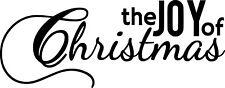 JOY OF CHRISTMAS vinyl sticker decal shop wall door window words removable