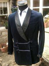 Mens Blue Velvet Smoking Jacket Dinner Party Host Blazer Groomsman Wedding Coat