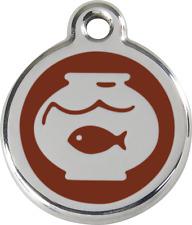Médaille acier inox gravée chat red dingo bocal poisson plusieurs 11 couleurs