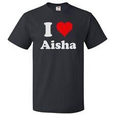 I Love Aisha T shirt I Heart Aisha Tee