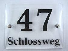 Design Hausnummer aus Acrylglas, Schild Plexiglas, hochwertige Laserbearbeitung