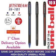 x 10 Uni-ball Jetstream sx-101 0.7mm BALL stylo Noir/Bleu / rouge avec Mix &