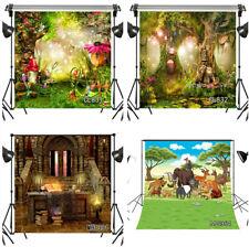 Fairytale Forest Halloween Vinyl Backdrop Background Photography Studio Props