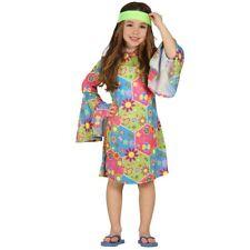 vestito Hippie Ragazza Flower power damigella costume travestimento