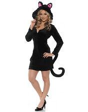 Black Cat Mini Dress Womens Adult Animal Halloween Costume