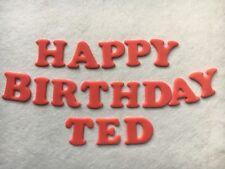 Edible sugarpaste letters -happy birthday + name cake topper