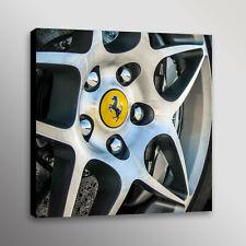 Ferrari Wheel Carbon Brake Rotor Car Automotive Photo Wall Art Canvas Print