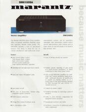 Marantz Sm-6100Sa Stereo Amplifier Brochure 1999