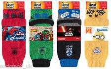 NUOVO! Ragazzo Bambino Calore titolari Star Wars, Spiderman, PORTABORSE TERMICA Pantofole Con Calze