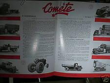 REEDITION 1993/ CATALOGUE GAZOGENE COMETE 1943 : Citroën, Peugeot, Saurer, Ford