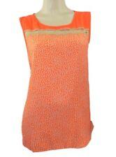 Evans Plus Size Orange Spot Print Sleeveless Swing Top