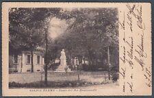 PAVIA SALICE TERME 04b MONUMENTO BRUGNATELLI Cartolina viaggiata 1917