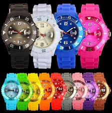 Unisex Goma Silicona Jalea Pulsera Reloj con Fecha para Adultos Niños Niñas Gift