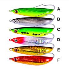 Fishing Minnow Spoon Weedless Hook Long Casting Jig Bass Stripers Salmon 20g