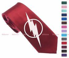 DC Super Hero The Flash Logo Men Multi-colored 6.5 cm Skinny Slim Tie Necktie 08