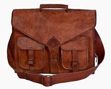 Stylish Men's Genuine Leather Shoulder Messenger Bag Vintage Satchel Briefcase