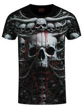 MORTE a spirale costole tutto stampa Uomo Nero T-shirt