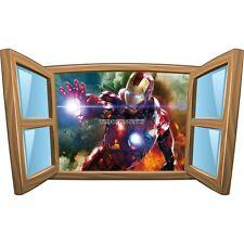 Sticker enfant fenêtre Iron Man réf 1012 1012
