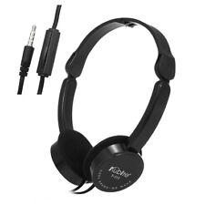 3.5mm Music Foldable Wired Gaming Over-ear Earphones Headset Headphones Mic B6Y5