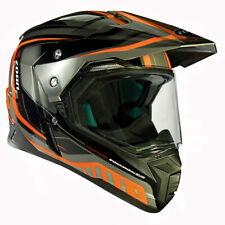 Zoan Synchrony Duo Tourer Orange Graphic Dual Sport Motorcycle Riding Helmet