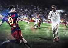 Messi & Ronaldo Real Madrid Barcelona Barca Fc Foto Impresión Cartel A3 A4