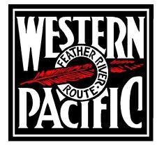 Western Pacific Railroad Sticker / Decal R4622 Railway Train YOU CHOOSE SIZE