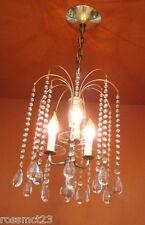 Vintage Lighting Mid Century Hollywood Regency crystal chandelier