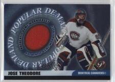 2003-04 Topps Pristine Popular Demand Relics #PD-JTH Jose Theodore Hockey Card
