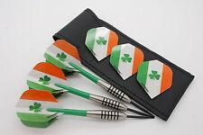 19g - 32g Tungsten Darts set, John Lowe type, Winmau Irish Flights, Stems, Case