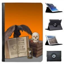 Halloween Props Spooky Skulls Black Crow Poison Folio Leather Case For iPad Mini