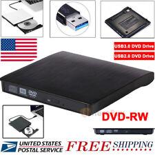 Slim External USB 3.0 2.0 DVD RW CD Drive Burner Reader Player For Laptop PC MAC