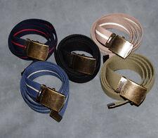 Garçons Homme Femme Enfants Noir Rouge Bleu Marine Marron Vert 30 mm Big Canvas Belt L XL 3xl