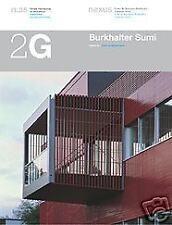 2G 35 Burkhalter Sumi International Architecture Review 1st Edition, Paperback