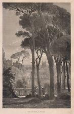 1876 Tivoli Villa Este xilografia