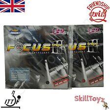 2 x Friendship Focus 3 Snipe Table Tennis Rubbers - UK Seller - CHOOSE HARDNESS