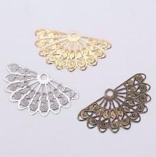 20pcs Fan shaped flower Connectors Pendant hairpin Jewelry Making Accessorie DIY